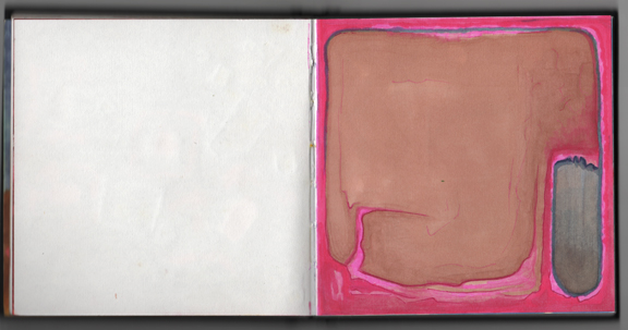 Pink frame around brown and grey_small