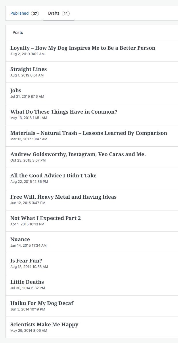 Wordpress Draft Titles